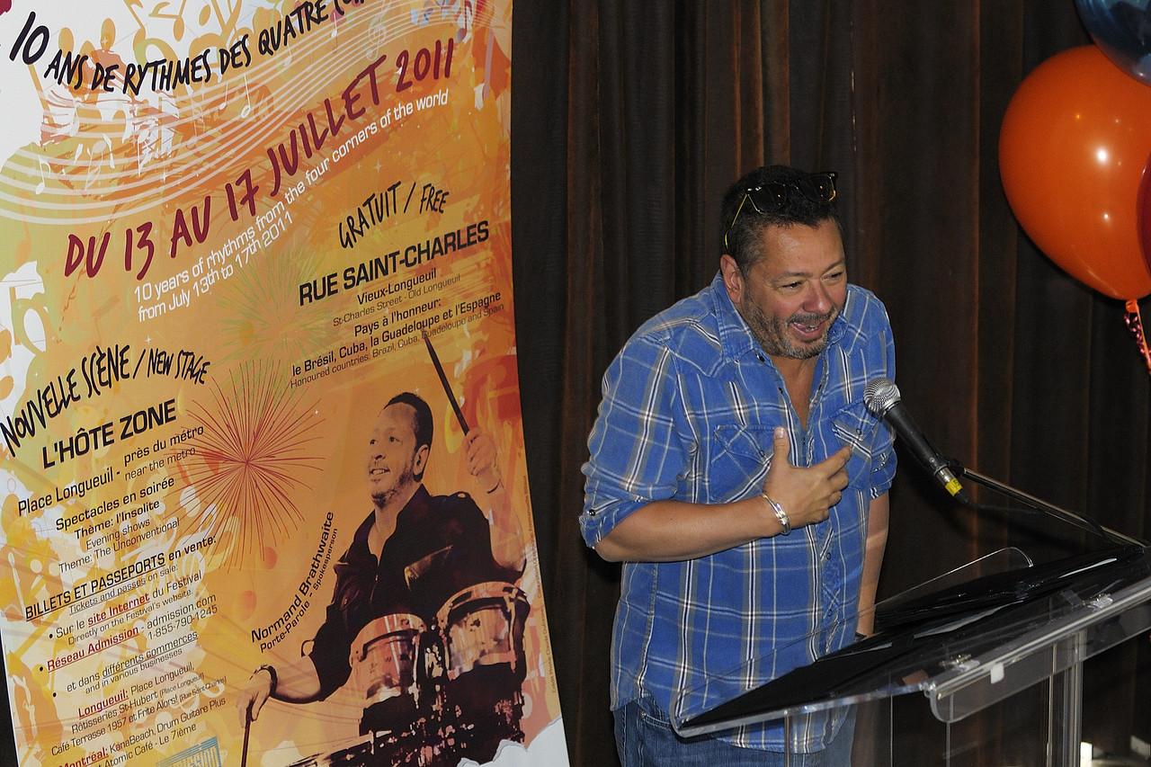 Normand Brathwaite, Festival international de percussion de Longueuil ( FIPL ), Longueuil Qc; conference de presse / press conference