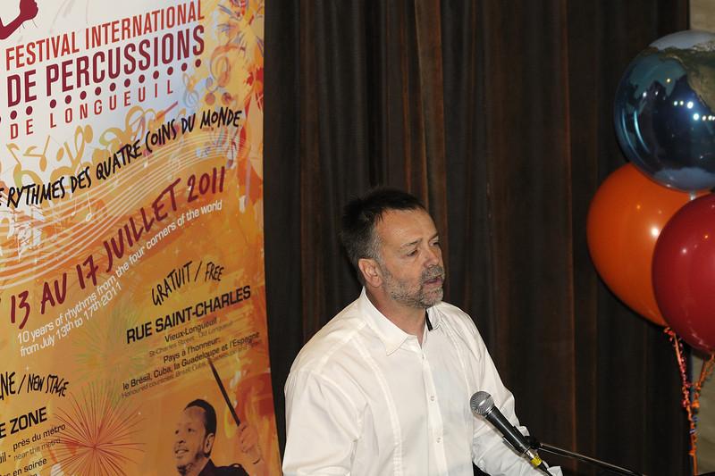 Gilbert Lucu, Festival international de percussion de Longueuil ( FIPL ), Longueuil Qc; conference de presse / press conference