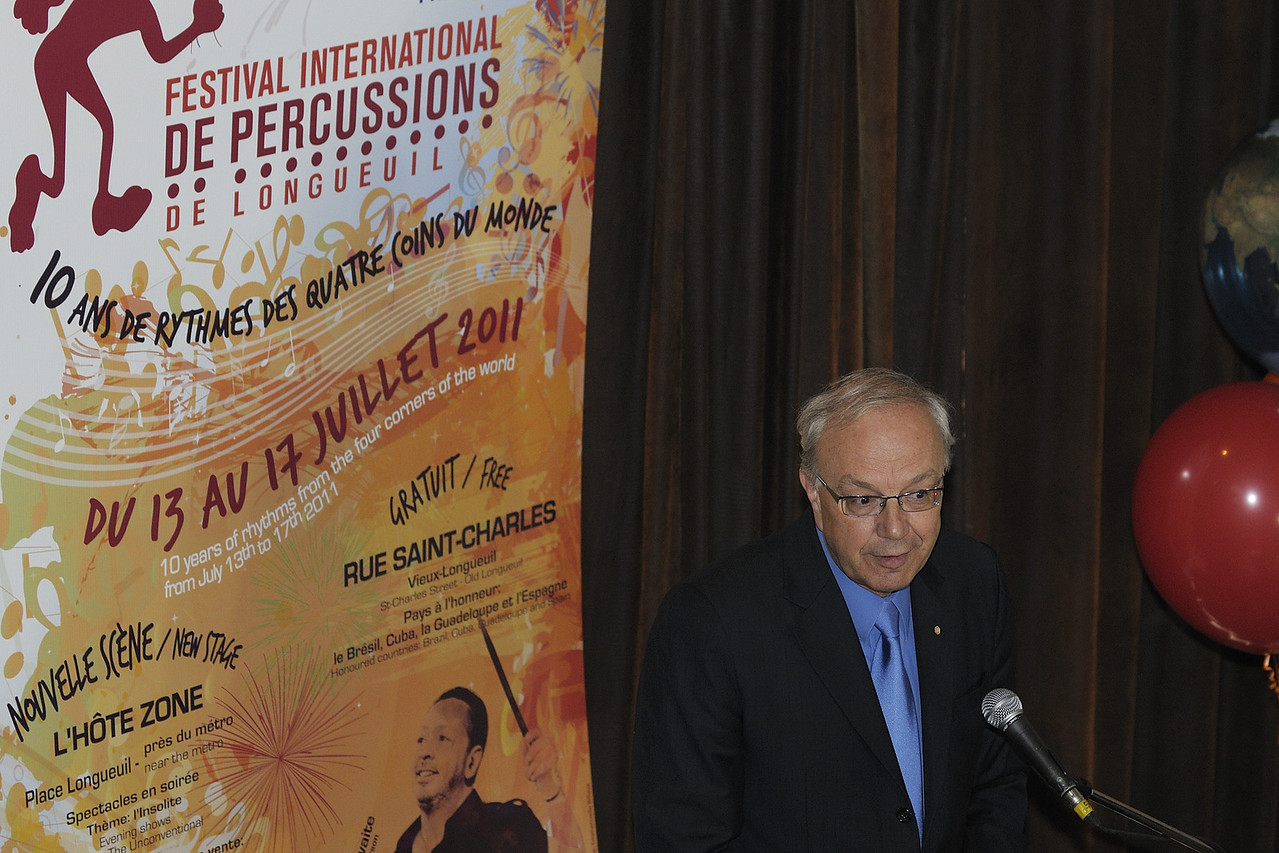 Festival international de percussion de Longueuil ( FIPL ), Longueuil Qc; conference de presse / press conference
