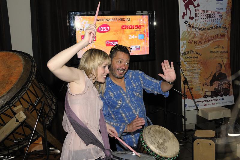 Mélissa Lavergne et Normand Brathwaite, Festival international de percussion de Longueuil ( FIPL ), Longueuil Qc; conference de presse / press conference