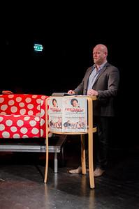 Gjøvik kulturhus 10/01/2014   FREDAGSREVYEN - et skråblikk på Gjøvik akkurat nå   --- Foto: Jonny Isaksen