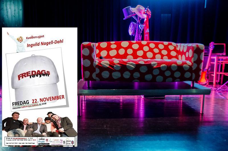 Gjøvik kulturhus 22/11/2013 <br /> FREDAGSREVYEN - et skråblikk på Gjøvik akkurat nå