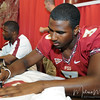 EJ Manuel signs a jersey for a fan during FSU Fan Day held on August 14th at the Civic Center.
