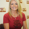 Candi Fisher poses for a photo during FSU Fan Day held on August 14th at the Civic Center.