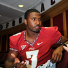 EJ Manuel talks to the media during Media Day at Doak Campbell Stadium on August 14th.