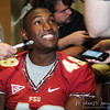 Brandon Jenkins talks to the media during Media Day at Doak Campbell Stadium on August 14th.