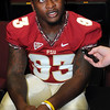 Everett Dawkins speaks with the media during Media Day at Doak Campbell Stadium on August 14th.