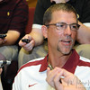 Eddie Gran, running backs coach, talks to the media during Media Day at Doak Campbell Stadium on August 14th.