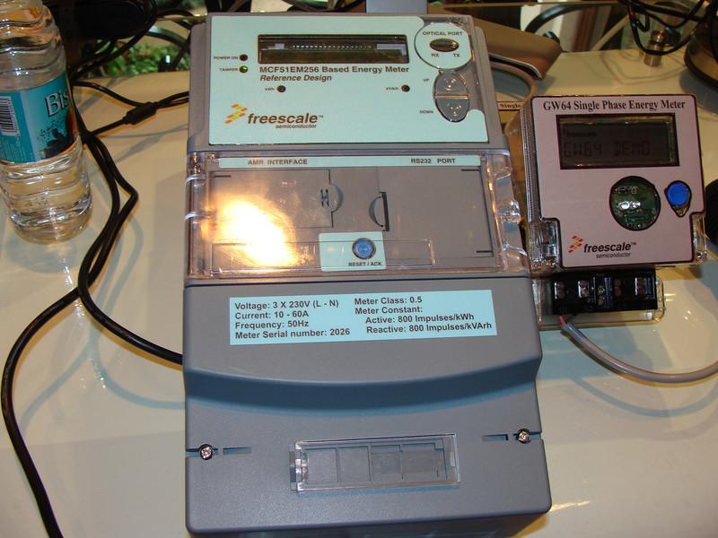 Three Phase Energy Meter based on Freescale EM256
