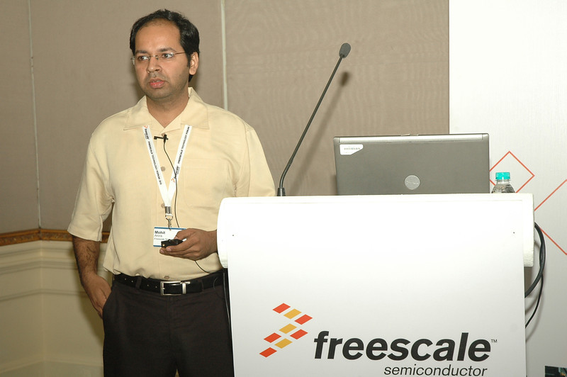 "Mohit Arora, Presenting session on ""Advanced Metering Security: Security Threads, Challenges and Counter Measures"" in Freescale Technology Forum , 2010 in Bangalore, India."