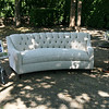 Light Grey Tufted Sofa, Grey French Style Chairs, Accent Tables
