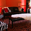Black Leather Sofa, Black Leather Bench, Zebra Chairs