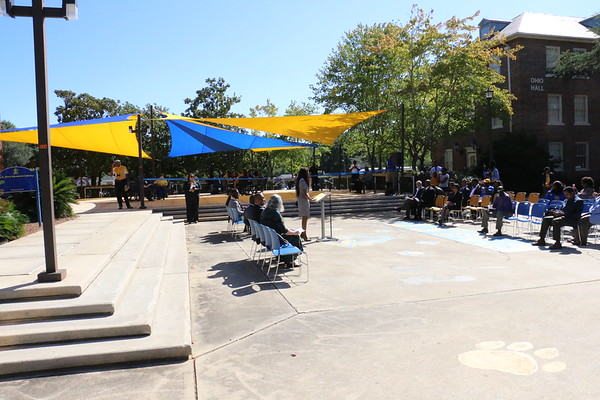 Library Patio Ribbon Cutting
