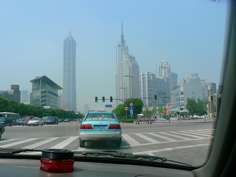 Similar view as the previous one except that the VW cab responded to the go traffic signal. On the way to the hotel.
