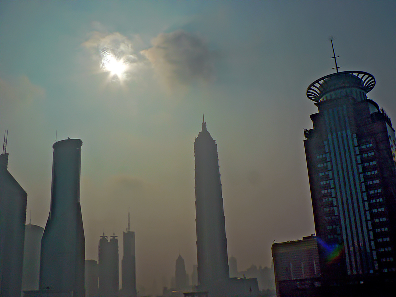 Morning shot of Shanghai skyline from my hotel window.