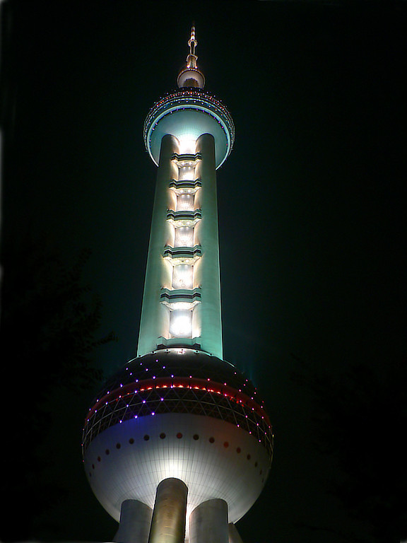 Pearl TV tower at night. Maybe just an insurance shot.