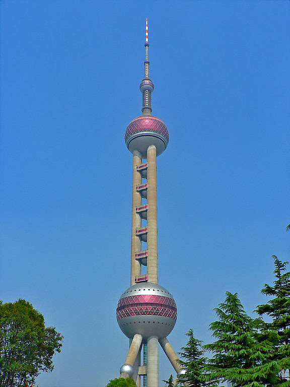 Another view of the Pearl TV tower.