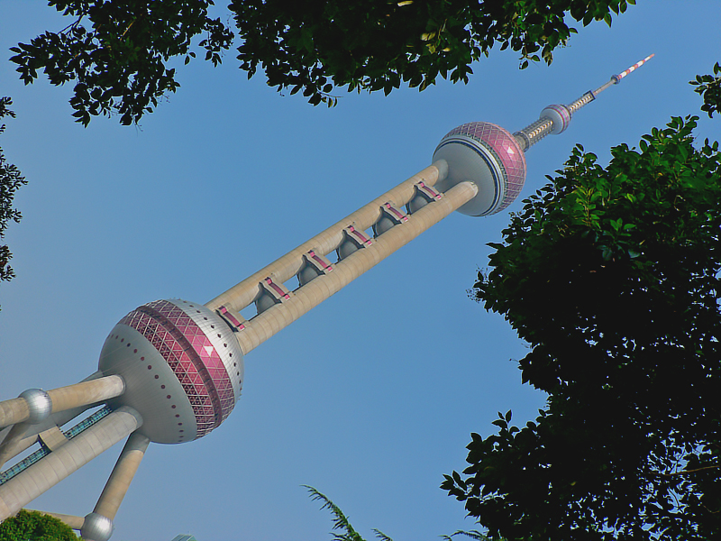 Pearl TV tower view from a nearby park beside my hotel.