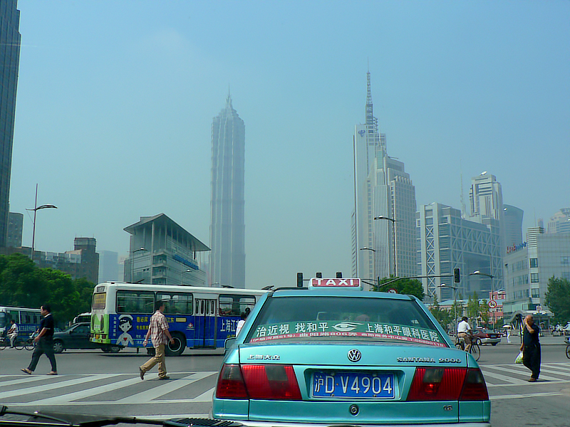 This VW car seems to be popular in Shanghai as a cab. I've seen at least 3 generations of this Santana model used as a cab. On the way back to the hotel.