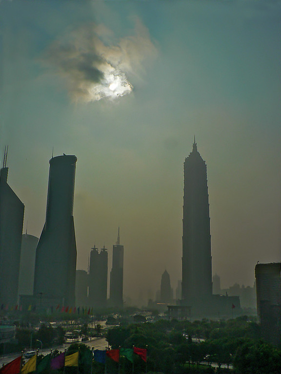 Another portrait look of the Shanghai morning from my hotel window.