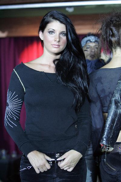 """Model wearing Antik Denim """"Black Out"""""""