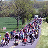 "Face of America 2008 bike ride - the final leg always has the entire group finishing together to celebrate the achievement of all participants and be true to the motto ""We All Ride the Same Road"""