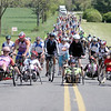 Face of America 2008 bike ride - we honor the hard working hand cyclists and recently wounded soldiers by letting them lead the pack to the finish.