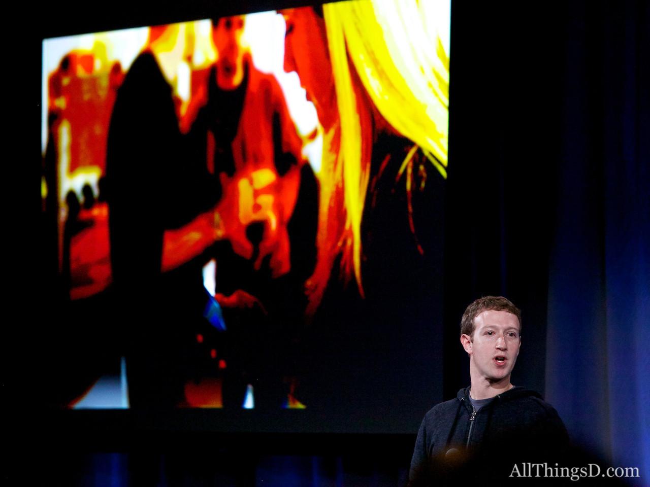 Facebook CEO Mark Zuckerberg at the Facebook Home launch event.
