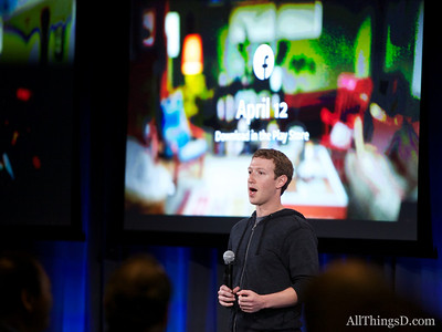 Facebook Home Event in Menlo Park, CA, on April 4, 2013.