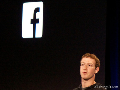 Facebook CEO Mark Zuckerberg at the Facebook Home launch event.