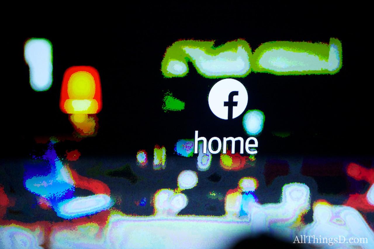 Facebook Home Event in Menlo Park, CA, on April 4, 2013.