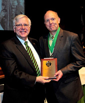 President Kopp (left) and Dr. Michael Householder, associate professor of English, Pickens-Queen Excellence in Teaching Award