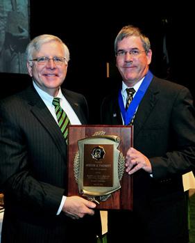 President Kopp (left) and Steven Barnett, professor of Music, Marshall & Shirley Reynolds Outstanding Teacher Award