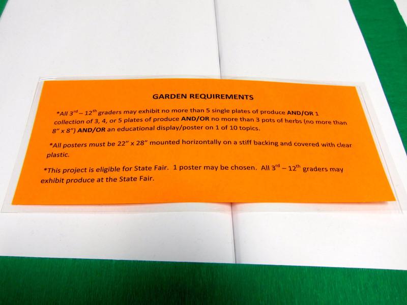 Garden Requirements<br /> Elkhart County 4H Fair 2012