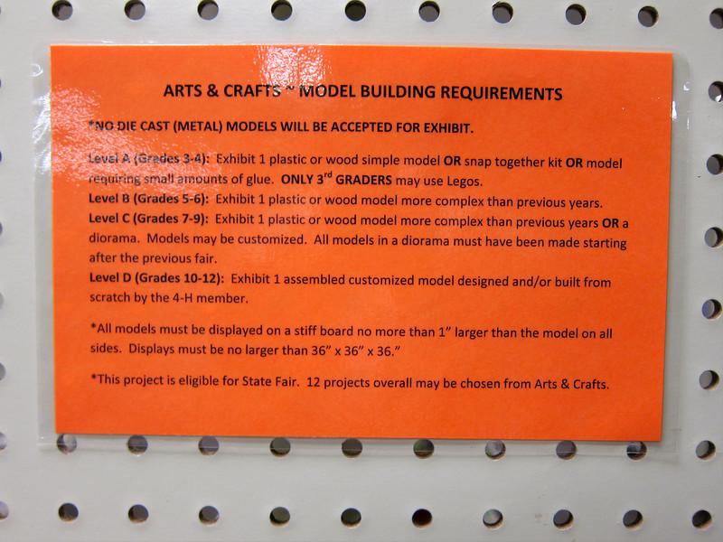 Model Building Requirements<br /> Elkhart County 4H Fair 2012