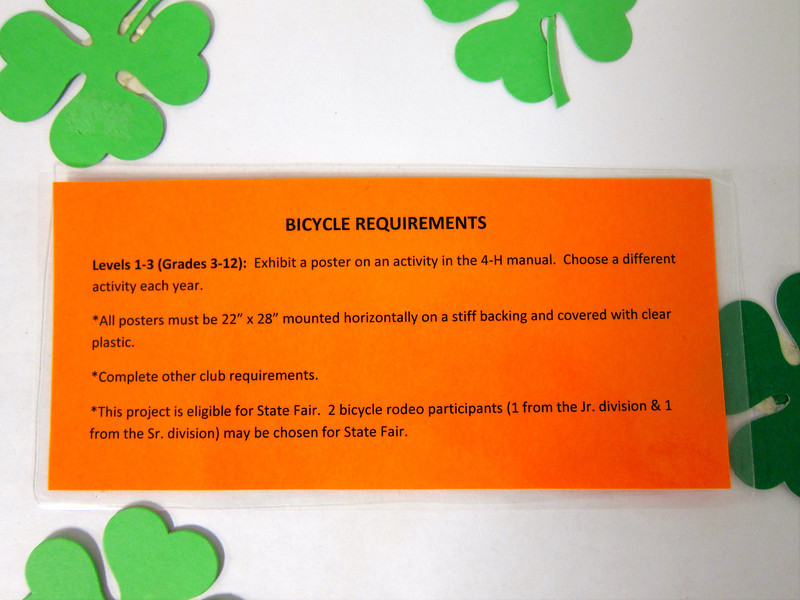 Bicycle Requirements<br /> Elkhart County 4H Fair 2012