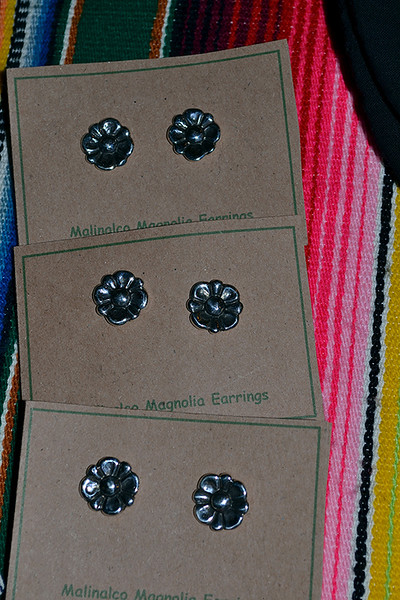 Silver earings from Mexico were available at the Fair Trade sale Nov. 30 at Bergamo Center.