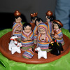 A nativity scene from Guatemala was raffled off at the Fair Trade sale.