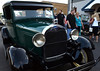 "Classis cars are inspected during the Fairmount Fire Company's ""Under The Lights"" Car Show along Susquehanna Ave  in Lansdale on Saturday June 21,2014. Photo by Mark C Psoras/The Reporter"