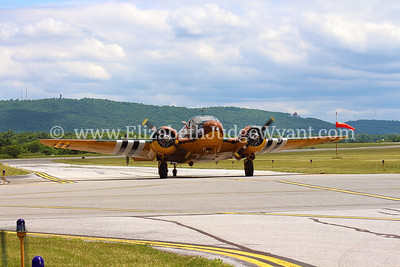 WWII World War II Air Show in Reading PA  June 2015 Fire Tower & Reading Pagoda in background.