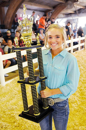 Don Knight | The Herald Bulletin<br /> Noelle Loller fulfilled a longtime dream by being named Madison County 4-H Fair Queen and winning the supreme showmanship competition.