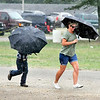 John P. Cleary | The Herald Bulletin<br /> Periodic heavy rains  made people run for cover throughout the day during the 4-H Horse & Pony Show Friday at Alexandria.