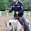 John P. Cleary | The Herald Bulletin<br /> Faith Beerman looks toward the judge as she competes in the Jr/Sr. Egg Race-56 inches and under class at the 4-H Horse & Pony Show Friday.