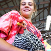 John P. Cleary | The Herald Bulletin<br /> Fayte Bridwell, 12, holds her Rose Comb Clean Legged Bantam while she waits for the class to be judged Monday at the 2019 Madison County 4-H Fair.