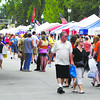 Large crowds came out to the Lapel Village Fair for the food and to shop the different venders.