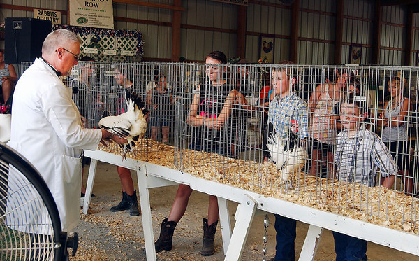 Judging went on Monday at the Madison County 4-H Fair for the Poultry Show.