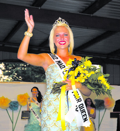 Samantha Thurston, from Alexandria-Monroe High School, was named the Madison County 4-H Fair Queen Sunday night.