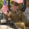 World War II veteran Henry Brown received a huge round of applause at the parade.