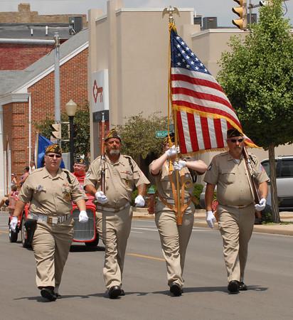 Presentation of colors at the 4-H Fair Parade.