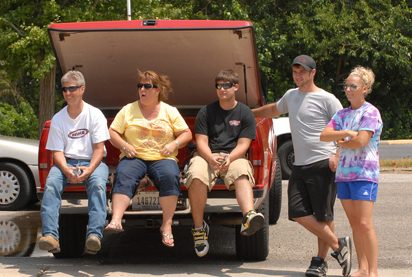Onlookers watch the Madison County 4-H Parade.